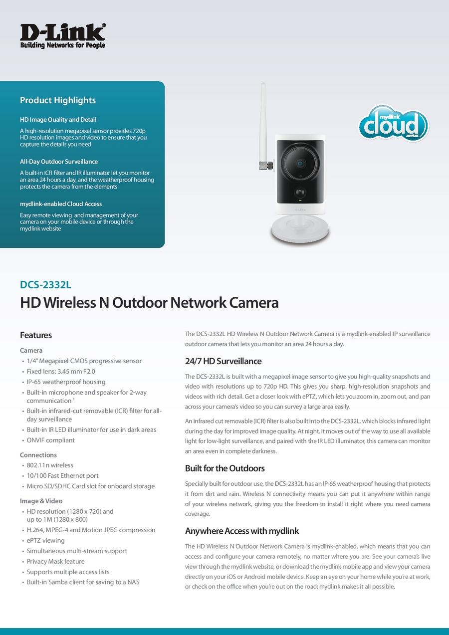 Camara ip cloud d link para exterior alta definicion dcs for Definicion exterior