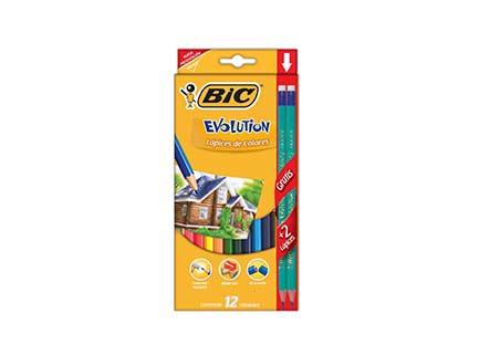 Colores bic evolution estuche c 12 colores en - Evo bank oficinas ...